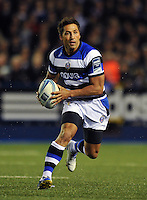 Gavin Henson goes on the attack. Amlin Challenge Cup Final, between Bath Rugby and Northampton Saints on May 23, 2014 at the Cardiff Arms Park in Cardiff, Wales. Photo by: Patrick Khachfe / Onside Images