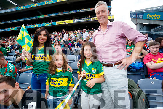 Paola, April Rosa, Georgina and Tom Kennedy, pictured at the Kerry v Mayo all Ireland semi-final re-play in Croke Park, on Saturday last.