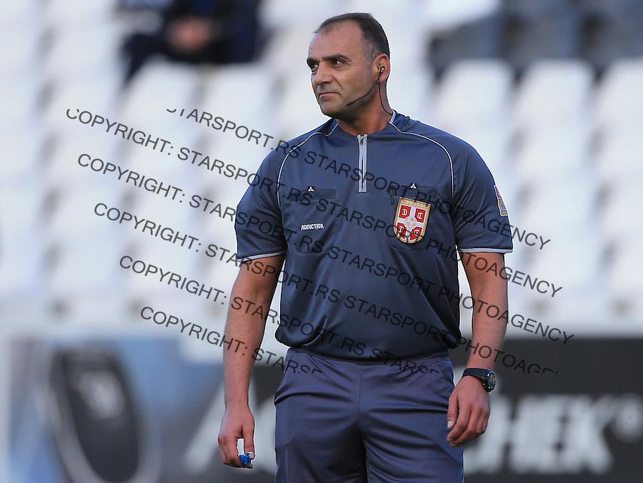 Fudbal Jelen Super League season 2014-2015<br /> Cukaricki v Kragujevac 1923 <br /> referee sudija Srdjan Obradovic<br /> Beograd, 09.18.2014.<br /> foto: Srdjan Stevanovic/Starsportphoto&copy;