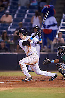 Tampa Yankees left fielder Zack Zehner (36) at bat during a game against the Daytona Tortugas on August 5, 2016 at George M. Steinbrenner Field in Tampa, Florida.  Tampa defeated Daytona 7-1.  (Mike Janes/Four Seam Images)