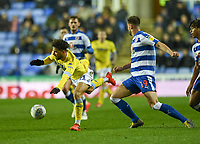 Leeds United's Tyler Roberts (left) is fouled by Reading's Matt Miazga (right) <br /> <br /> Photographer David Horton/CameraSport<br /> <br /> The EFL Sky Bet Championship - Reading v Leeds United - Tuesday 12th March 2019 - Madejski Stadium - Reading<br /> <br /> World Copyright &copy; 2019 CameraSport. All rights reserved. 43 Linden Ave. Countesthorpe. Leicester. England. LE8 5PG - Tel: +44 (0) 116 277 4147 - admin@camerasport.com - www.camerasport.com