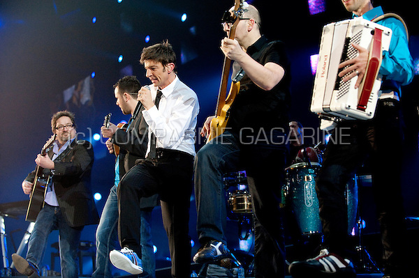 Belgian band Clouseau performing their De Laatste Ronde concert in the Sportpaleis, Antwerp (Belgium, 17/12/2010)