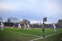 A general view of a lineout five metres out. European Rugby Champions Cup match, between Bath Rugby and Leinster Rugby on November 21, 2015 at the Recreation Ground in Bath, England. Photo by: Patrick Khachfe / Onside Images