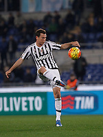 Calcio, Serie A: Lazio vs Juventus. Roma, stadio Olimpico, 4 dicembre 2015.<br /> Juventus&rsquo; Stephan Lichsteiner in action during the Italian Serie A football match between Lazio and Juventus at Rome's Olympic stadium, 4 December 2015.<br /> UPDATE IMAGES PRESS/Isabella Bonotto
