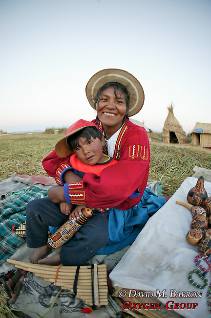 Uros People On Floating Island