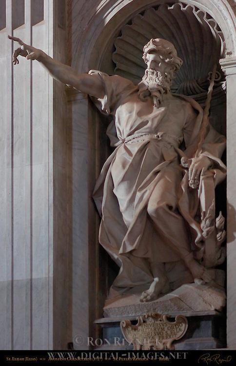 St Elijah St Elias Agostino Cornacchini 1727 Apse entrance St Peter's Basilica Rome