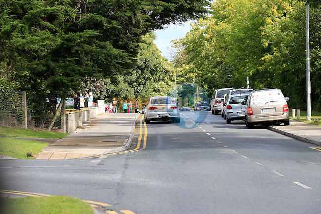 Tullyallen School congestion<br /> Picture Fran Caffrey www.newsfile.ie