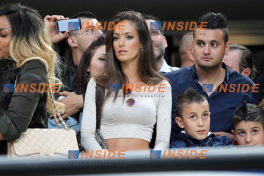 """La nuova fidanzata di Mario Balotelli Milan, Milano 12/5/2013 .Stadio """"S.Siro"""".Football Calcio 2012/2013 Serie A.Milan Vs Roma.Foto Marco Bertorello Insidefoto"""