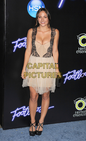 """Briana Evigan.""""Footloose"""" Los Angeles Premiere held at the Regency Village Theatre, Westwood, California, USA..October 3rd, 2011.full length dress black lace nude cream beige sheer dress sleeveless cleavage .CAP/ROT/TM.©Tony Michaels/Roth Stock/Capital Pictures"""