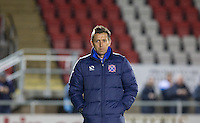 Dagenham & Redbridge Coach Darren Currie during the Sky Bet League 2 match between Dagenham and Redbridge and Wycombe Wanderers at the London Borough of Barking and Dagenham Stadium, London, England on 9 February 2016. Photo by Andy Rowland.