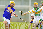 John Griffin Lixnaw in action against Tommy Maunsell Kilmoyley in the County Senior Hurling final at Austin Stack Park on Saturday.