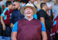 Burnley fans enjoy the atmosphere before kick off<br /> <br /> Photographer Alex Dodd/CameraSport<br /> <br /> UEFA Europa League - Europa League Qualifying Round 2 2nd Leg - Burnley v Aberdeen - Thursday 2nd August 2018 - Turf Moor - Burnley<br />  <br /> World Copyright © 2018 CameraSport. All rights reserved. 43 Linden Ave. Countesthorpe. Leicester. England. LE8 5PG - Tel: +44 (0) 116 277 4147 - admin@camerasport.com - www.camerasport.com
