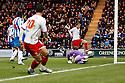 Robin Shroot of Stevenage scores their first goal. - Colchester United v Stevenage - Weston Homes Community Stadium, Colchester - 26th December 2011  .© Kevin Coleman 2011