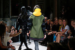 A model walks the runway during the Fay fashion show as part of the Milan Fashion Week Women's wear Fall/Winter 2014/2015, in Milan on February 19, 2014. <br /> <br /> &copy; Pierre Teyssot