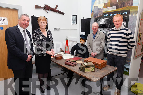 Enjoying the new displays at the newly refurbished Old Barracks in Cahersiveen on Friday night were l-r; Declan Murphy(Fáilte Ireland), Mary O'Connor, Junior Murphy & Cormac Dineen.