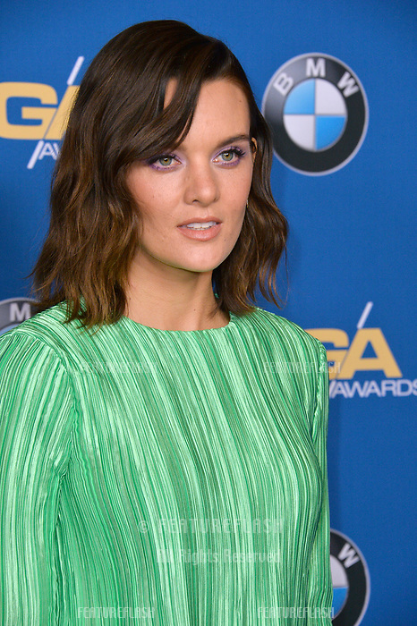 Frankie Shaw at the 70th Annual Directors Guild Awards at the Beverly Hilton Hotel, Beverly Hills, USA 03 Feb. 2018<br /> Picture: Paul Smith/Featureflash/SilverHub 0208 004 5359 sales@silverhubmedia.com