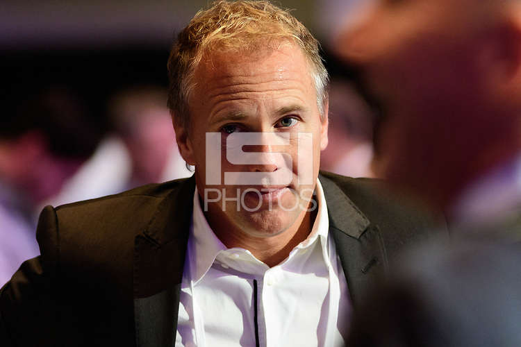 Philadelphia, PA - Friday January 19, 2018: Chris Henderson during the 2018 MLS SuperDraft at the Pennsylvania Convention Center.