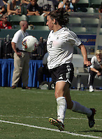 Birgit Prinz, Germany 2-1 over Sweden at the  WWC 2003 Championships.