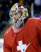 Benjamin Conz (Switzerland - 1) - Team Switzerland defeated Team Latvia 7-5 on Wednesday, December 30, 2009, at the Credit Union Centre in Saskatoon, Saskatchewan, during the 2010 World Juniors tournament.