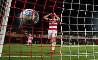 Doncaster Rovers' Ben Whiteman reacts to conceding a late goal<br /> <br /> Photographer Alex Dodd/CameraSport<br /> <br /> The EFL Sky Bet League One - Doncaster Rovers v Blackpool - Tuesday September 17th 2019 - Keepmoat Stadium - Doncaster<br /> <br /> World Copyright © 2019 CameraSport. All rights reserved. 43 Linden Ave. Countesthorpe. Leicester. England. LE8 5PG - Tel: +44 (0) 116 277 4147 - admin@camerasport.com - www.camerasport.com