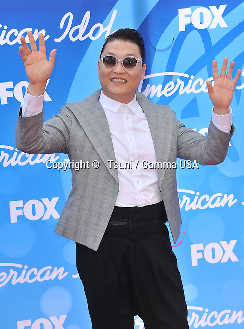 PSY  at the American Idol 2013 at the Nokia Theatre in Los Angeles.
