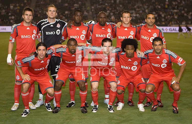 Toronto FC starting eleven. The LA Galaxy defeated Toronto FC 2-0 at Home Depot Center stadium in Carson, California on Saturday September 19, 2009...