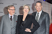 director, Steven Spielberg, Meryl Streep and Tom Hanks<br /> arriving for the European premiere of &quot;The Post&quot; at the Odeon Leicester Square, London<br /> <br /> <br /> &copy;Ash Knotek  D3368  10/01/2018