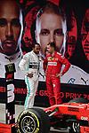 14.04.2019, Shanghai Audi International Circuit, Shanghai, 2019 FORMULA 1 HEINEKEN CHINESE GRAND PRIX<br /> im Bild<br />Sieger Lewis Hamilton (GB#44), Mercedes-AMG Petronas Motorsport, Sebastian Vettel (GER#5), Scuderia Ferrari<br /> <br /><br /> <br /> Foto &copy; nordphoto / Bratic