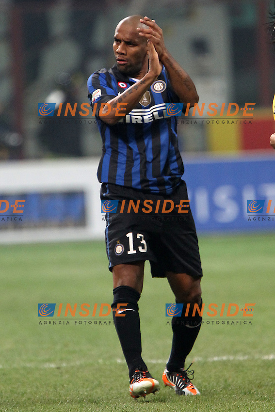 """Maicon Inter..Milano 10/12/2011 Stadio """"S.Siro""""..Football / Calcio Serie A 2011/2012..Inter vs Fiorentina..Foto Paolo Nucci Insidefoto"""