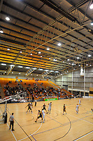 A general view of TSB Stadium. NBL - Taranaki Mountainairs v Nelson Giants at TSB Stadium, New Plymouth, New Zealand on Thursday, 28 April 2011. Photo: Dave Lintott / lintottphoto.co.nz