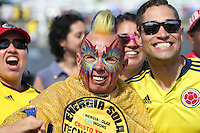 Santa Clara, CA - Friday June 03, 2016: A Colombia fans prior to a Copa America Centenario Group A match between United States (USA) and Colombia (COL) at Levi's Stadium.