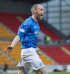 St Johnstone v Partick Thistle....17.01.15  SPFL<br /> Steven Anderson celebrates saints second goal<br /> Picture by Graeme Hart.<br /> Copyright Perthshire Picture Agency<br /> Tel: 01738 623350  Mobile: 07990 594431
