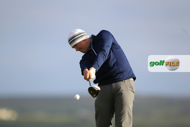 Colm Campbell Jnr (Warrenpoint) on the 2nd tee during Round 2 of the South of Ireland Amateur Open Championship at LaHinch Golf Club on Thursday 23rd July 2015.<br /> Picture:  Golffile | Thos Caffrey