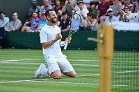 Adrian Mannarino (Fra)<br /> Wimbledon 06-07-2018 Roland Garros <br /> Tennis Grande Slam 2018 <br /> Foto Panoramic / Insidefoto <br /> ITALY ONLY
