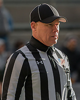 ACC Line Judge Hugh Campbell. The Pitt Panther defeated the Duke Blue Devils 56-14 at Heinz Field in Pittsburgh, Pennsylvania on November 19, 2016.