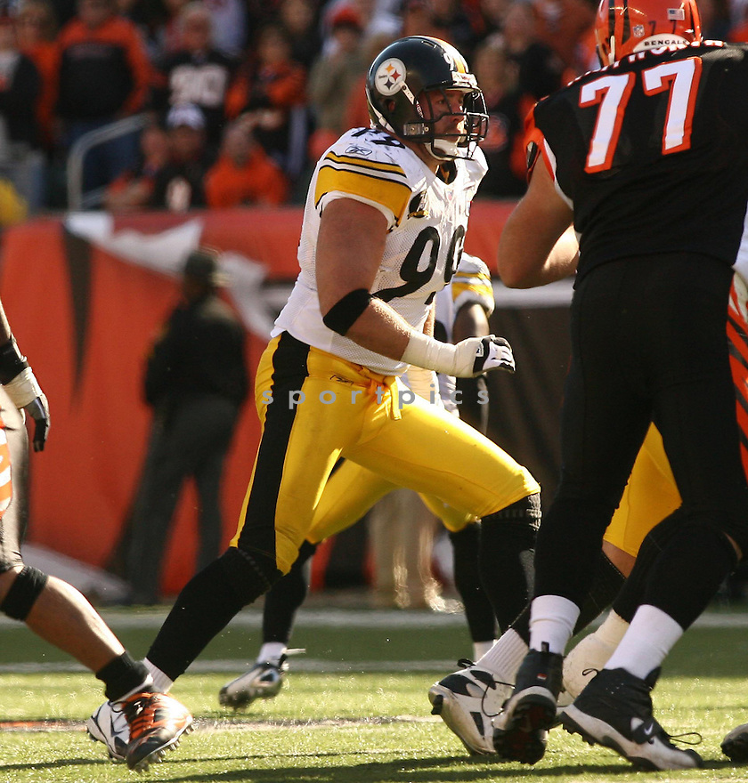 BRETT KEISEL, of the Pittsburgh Steelers, in action during the Steelers games against the Cincinnati Bengals, in Cincinnati, Ohio on October 28, 2007.  ..The Steeler won the game 24-13...COPYRIGHT / SPORTPICS..........
