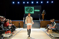 Nora Swann Collection, Piccadilly shoes, New Zealand Eco Fashion Exposed Maintain &amp; Sustain at Notre Dame Performing Arts Centre, Lower Hutt, New Zealand on Friday 25 July 2014. <br /> Photo by Masanori Udagawa. <br /> www.photowellington.photoshelter.com.