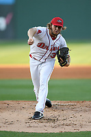 Starting pitcher Kutter Crawford (39) of the Greenville Drive delivers a pitch a game against the Columbia Fireflies on Wednesday, April 18, 2018, at Fluor Field at the West End in Greenville, South Carolina. Columbia won 8-4. (Tom Priddy/Four Seam Images)