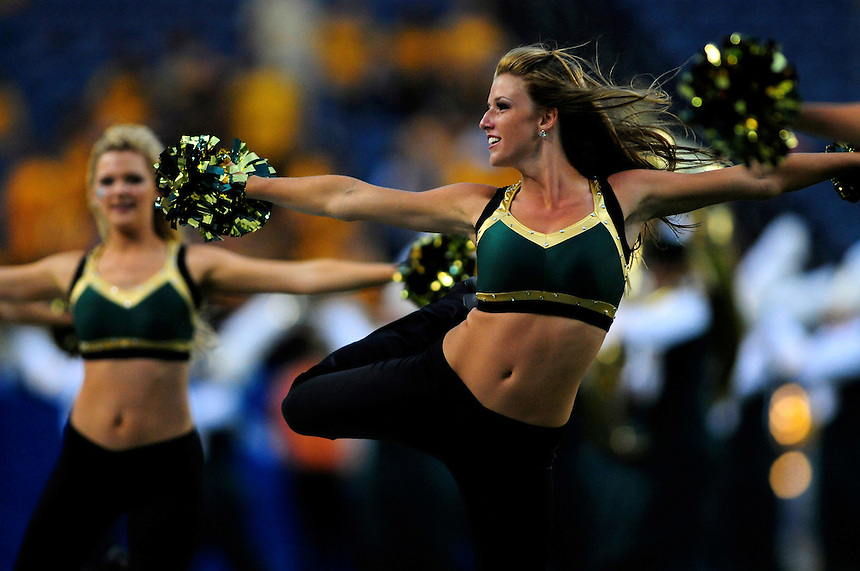 31 Aug 2008: Colorado State dancers entertain fans during halftime of a game against Colorado. The Colorado Buffaloes defeated the Colorado State Rams 38-17 at Invesco Field at Mile High in Denver, Colorado. FOR EDITORIAL USE ONLY