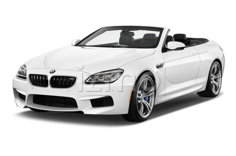2016 BMW M6 Convertible - 2 Door Convertible Angular Front stock photos of front three quarter view