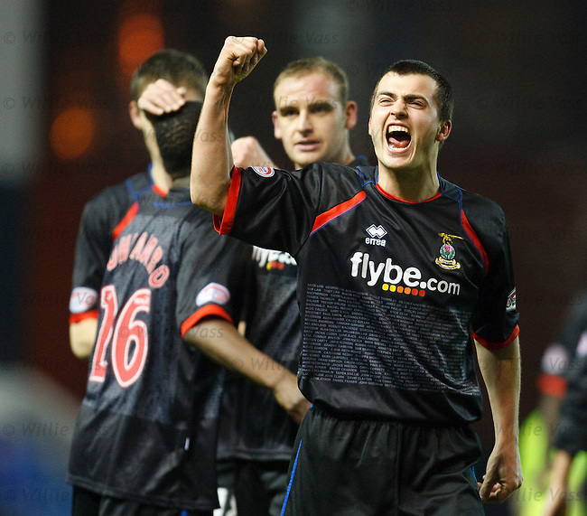 Russell Duncan leads the celebrations for Inverness at full-time