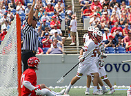 Annapolis, MD - May 20, 2018: Maryland Terrapins Mike Adler (50) celebrates scoring a goal during the quarterfinal game between Maryland vs Cornell at  Navy-Marine Corps Memorial Stadium in Annapolis, MD.   (Photo by Elliott Brown/Media Images International)