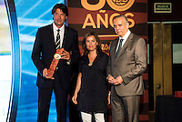 Jordi Villacampa during the 80th Aniversary of the National Basketball Team at Melia Castilla Hotel, Spain, September 01, 2015. <br /> (ALTERPHOTOS/BorjaB.Hojas) / NortePhoto.Com