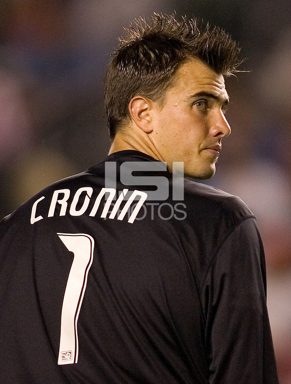 LA Galaxy goalkeeper Steve Cronin (1). The LA Galaxy and Chivas USA played to a 2-2 draw at Home Depot Center stadium in Carson, California on Thursday, August 14, 2008.