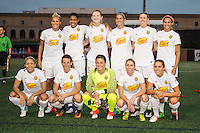 Allston, MA - Wednesday Sept. 07, 2016: WNY Flash starting eleven during a regular season National Women's Soccer League (NWSL) match between the Boston Breakers and the Western New York Flash at Jordan Field.