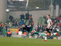 3rd November 2019; Aviva Stadium, Dublin, Leinster, Ireland; FAI Cup Final Football, Dundalk Football Club versus Shamrock Rovers; Jack Byrne plays a cross field pass for Shamrock Rovers