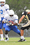 Palos Verdes, CA 09/16/11 - Akili Skannal (Culver City #21) in action during the Culver City-Peninsula varsity football game.