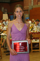 STANFORD, CA - June 12:  Arianna Lambie accepts the Al Masters Award during the 2008 Athletic Board Award Luncheon at the Ford Center in Stanford, California.
