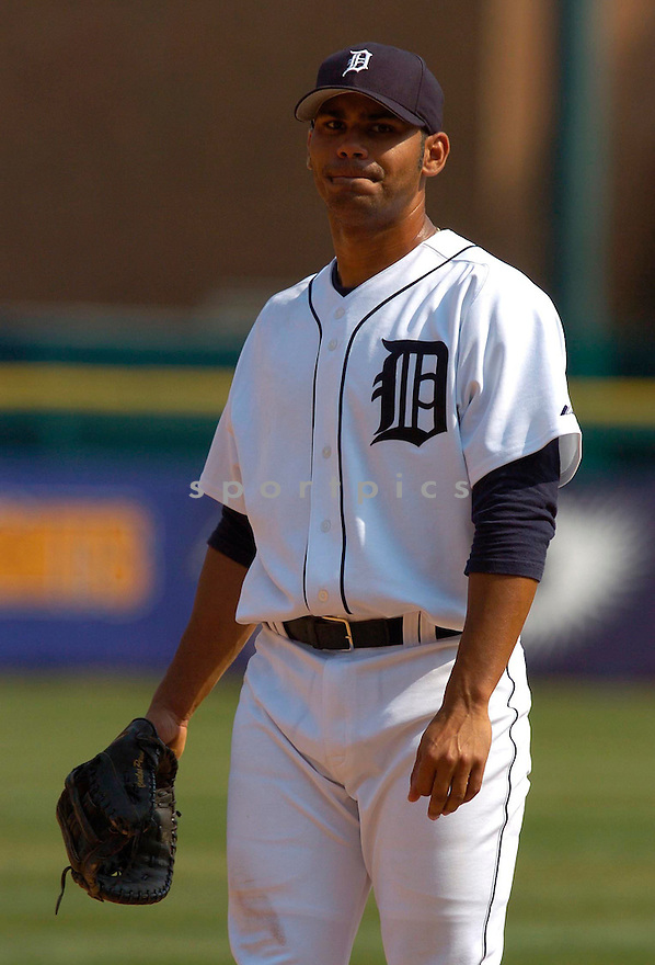 Carlos Pena during the Detroit Tigers v. Kansas City Royals game on April 6, 2005...Royals win 7-2..Chris Bernacchi / SportPics