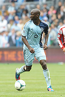 Ike Opara (3) defender Sporting KC in action..Sporting Kansas City defeated Chivas USA 4-0 at Sporting Park, Kansas City, Kansas.